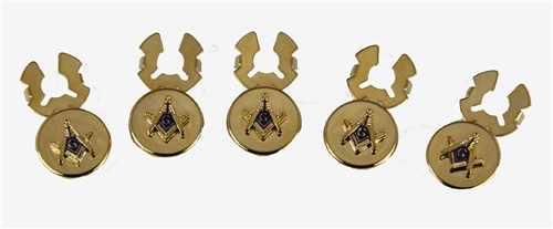 4031812 Mason Button Covers Masonic Freemason Set of Five Square Compass