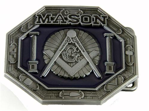 4031709 Mason Belt Buckle Masonic Blue Lodge Square and