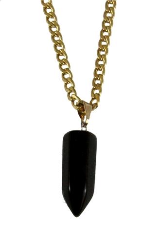 4031748 AEAONMS Masonic Black Stone Necklace Freemason Mecca Black Rock Mason Prince Hall