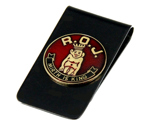 4031790 Royal Order of Jesters Money Clip Shrine Jester Billiken ROJ Wallet Bill Fold