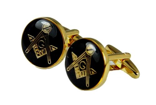 4031805 Freemason Cufflinks Mason Cuff Links Masonic Emblem Square & Compass