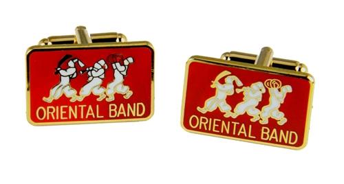 4031814 ASOB Cuff Links Association of Shrine Oriental Band Shriner Cufflinks