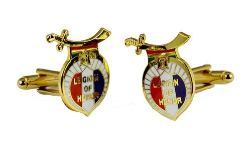 4031816 Legion of Honor Cufflinks Shrine Shriner International LOH Cuff Links
