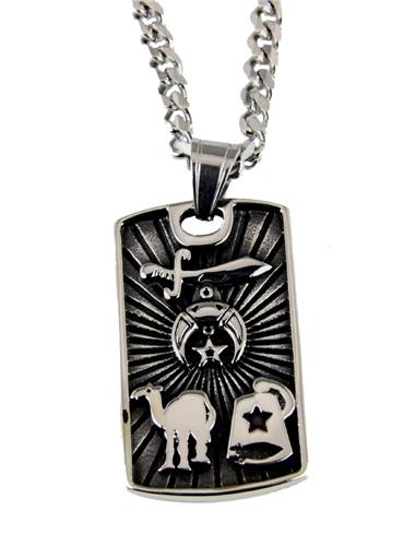 4031836 Shriner Necklace Shrine Prince Hall Mason Masonic Camel Fezz Scimitar