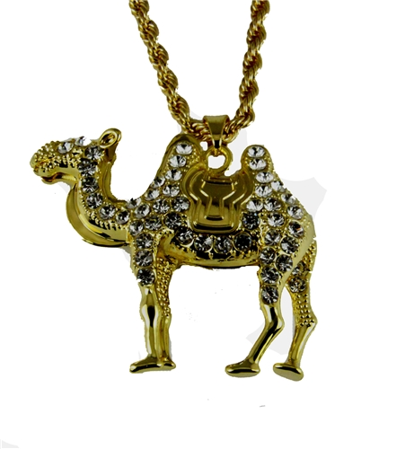4031838 Camel Necklace Prince Hall Bling Rhinestones With Chain  AEAONMS Mason Shriner