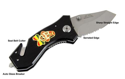 4031886 Shrine Clown Auto Emergency Knife Glass Breaker Seat Belt Strap Cutter Shriner Hospital Clowns Unit