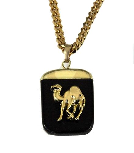 4031894 AEAONMS Masonic Black Stone Necklace Prince Hall Mecca Camel Mason Egypt Egyptian