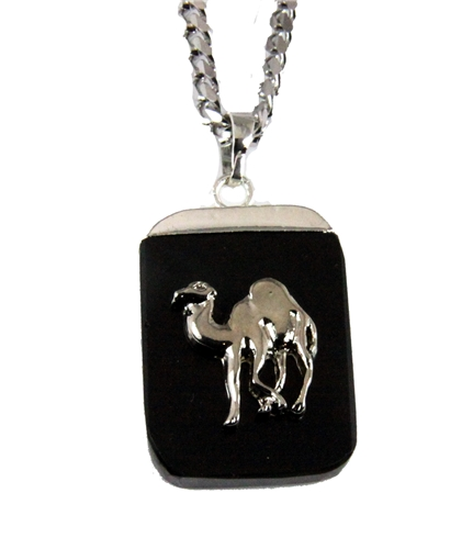 4031899 AEAONMS Masonic Black Stone Necklace Prince Hall Mecca Camel Mason Egypt Egyptian