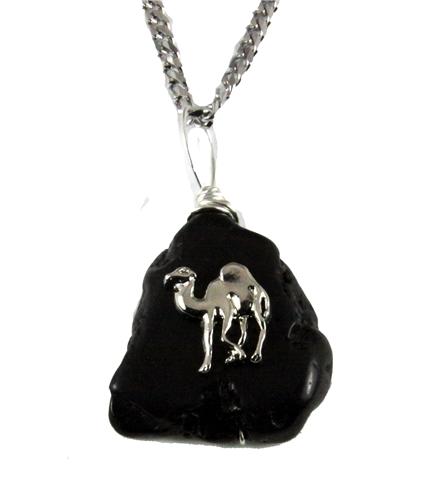 4031903 AEAONMS Masonic Black Stone Necklace Prince Hall Mecca Camel Mason Egypt Egyptian