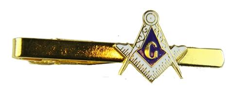 6030024 Mason Tie Clip Masonic Tie Bar Clasp Square and