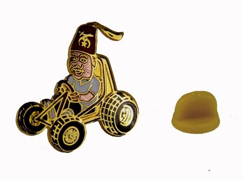6030668 Dune Buggy Patrol Shrine Lapel Pin 4 Wheeler Go Cart