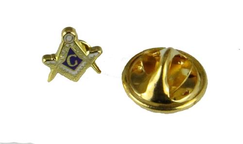 6030764 Tiny Mason Lapel Pin Masonic Blue Lodge Square and