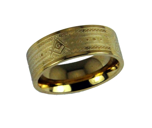 T102 Masonic Band Square and Compass All Seeing Eye Stainless Steel Mason Freemason