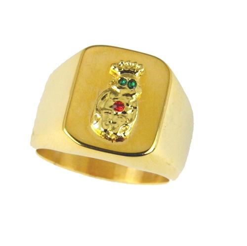 T19 Royal Order of Jesters Ring ROJ Jester Billiken Shriner Mens Bling