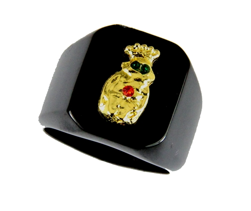 T21 Royal Order of Jesters Ring ROJ Jester Billiken Shriner Mens Bling
