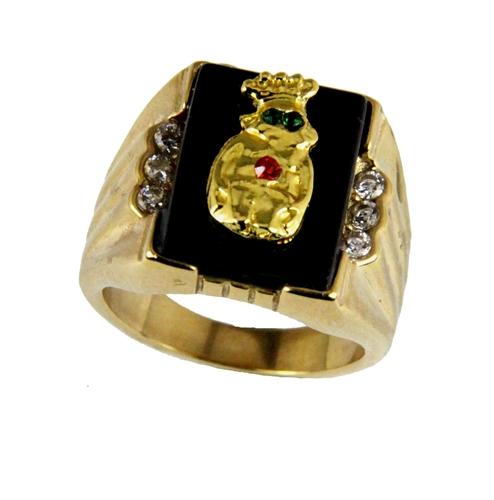 T22 Royal Order of Jesters Ring ROJ Jester Billiken Shriner Mens Bling