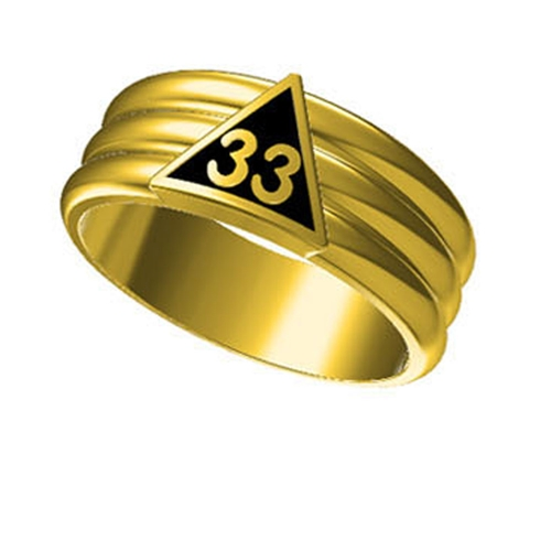 T23 Scottish Rite 33 Degree Stainless Steel Ring 33rd Thirty Third Freemason Mason