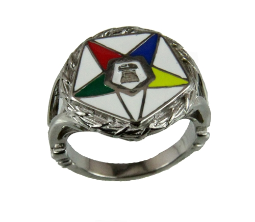 T27 OES Stainless Steel Ring Order Eastern Star O.E.S. Sister