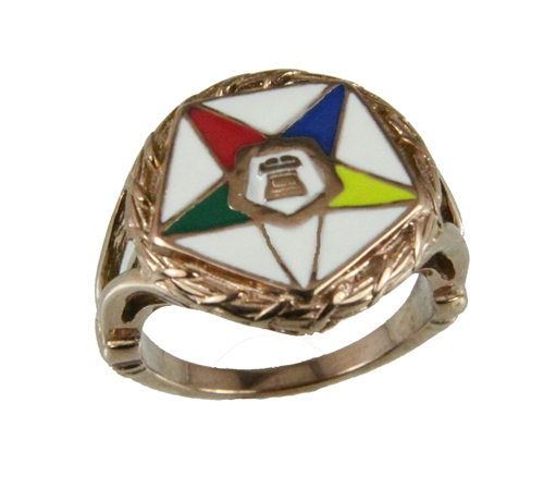 T28 OES Stainless Steel Ring Order Eastern Star O.E.S. Sister