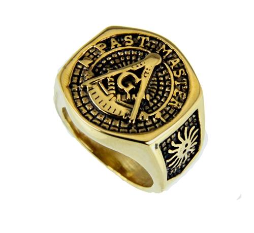 T54 Past Master Rocker Ring Masonic Blue Lodge Mason Noble