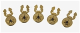 4031812 Mason Button Covers Masonic Freemason Set of Five Square Compass
