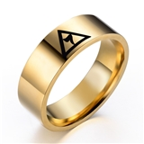 T43 Masonic Ring Scottish Rite Freemason 14th Degree Grand Elect