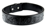 1010005 Genuine Leather Black Jester Belt Sizes 32-60 Royal Order of Jesters Biliken Mirth