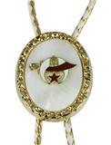 3030212 Shrine Bolo Tie Shriner Fez Shriner Scimitar and Crescent Moon