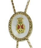 3030214 ROJ Royal Order of Jesters Bolo Tie Shriner Fez Billiken