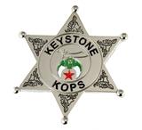 6030784 Shriner Keystone Kop Badge Cop Key Stone Cops Lapel Pin Large Size