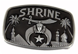 4031706 Shrine Belt Buckle Shriner Temple Scimitar Crescent Star