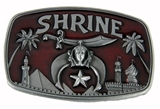 4031707 Shrine Belt Buckle Shriner Temple Scimitar Crescent Star