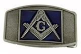 4031708 Mason Belt Buckle Masonic Blue Lodge Square and Compass
