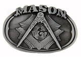 4031711 Mason Belt Buckle Masonic Blue Lodge Square and Compass