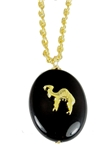 4031748 AEAONMS Masonic Black Stone Necklace Freemason Mecca Black Rock Mason Prince Hall Egyptian Camel