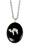 4031749 AEAONMS Masonic Black Stone Necklace Freemason Mecca Black Rock Mason Prince Hall Egyptian Camel