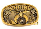 4031750 Shrine Belt Buckle Shriner Scimitar Crescent Star AEAONMS Hospital