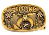 4031750 Shrine Belt Buckle Shriner Scimitar Crescent Star AEAONMS Hospital
