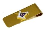 4031756 Mason Money Clip Freemason Square Compass Free Masonry Currency Organizer Gift Present