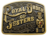4031758 Royal Order of Jesters Belt Buckle Billiken ROJ Jester Mirth is King Biliken