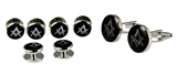 4031773 Mason Cufflinks and Tuxedo Stud Set Masonic Freemason Cuff Link Studs