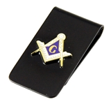 4031787 Mason Money Clip Freemason Square Compass Wallet Bill Fold