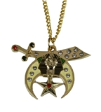 4031791 Shrine Necklace Pendant Shriner Scimitar Crescent Moon Star Prince Hall
