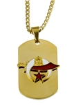 4031795 Shrine Dog tag Necklace Shriner Dogtag Scimitar Crescent Moon & Star