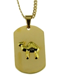 4031799 Prince Hall Camel Dog Tag Pendant Necklace Masonic Egypt AEAONMS