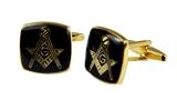 4031802 Freemason Cufflinks Mason Cuff Links Masonic Emblem Square & Compass