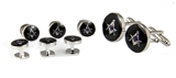 4031803 Mason Cufflinks and Tuxedo Stud Set Masonic Freemason Cuff Link Studs