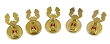 4031804 ROJ Royal Order of Jesters Button Covers Biliken Billiken Jester Tuxedo