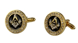 4031809 Mason Cufflinks Bling Masonic Cuff Links Freemason Set Pair Square Compass