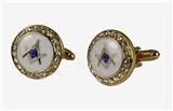 4031810 Mason Cufflinks Bling Masonic Cuff Links Freemason Set Pair Square Compass